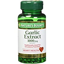 Nature's Bounty Garlic Extract 1000 mg, 100 Rapid Release Softgels (Pack of 4)