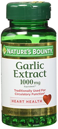(Nature's Bounty Garlic Extract 1000 mg, 100 Rapid Release Softgels (Pack of)