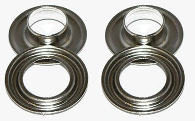 #2 3/8'' Nickel Long Neck Stimpson Grommets Qty 500 by BuyGrommets (Image #2)