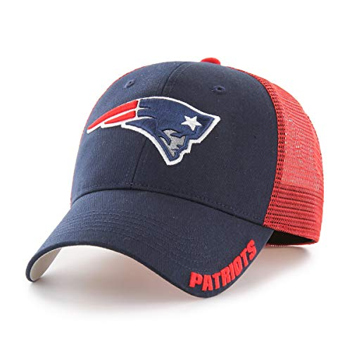 NFL New England Patriots Hursh OTS Center Stretch Fit Hat, Navy, Large/X-Large