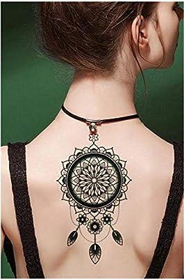 Tatuajes temporales para hombre y mujer, diseño de mandala con ...