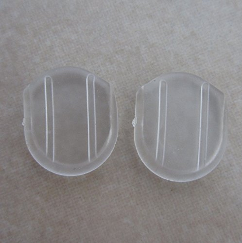 24 Clear Comfort Pads for Clip on Earrings by VANVENE