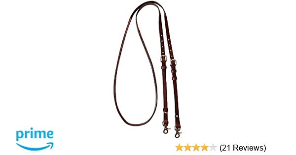 CASHEL ADJUSTABLE HORSE REINS ROLLED AND STITCHED QUALITY LEATHER 8/' feet