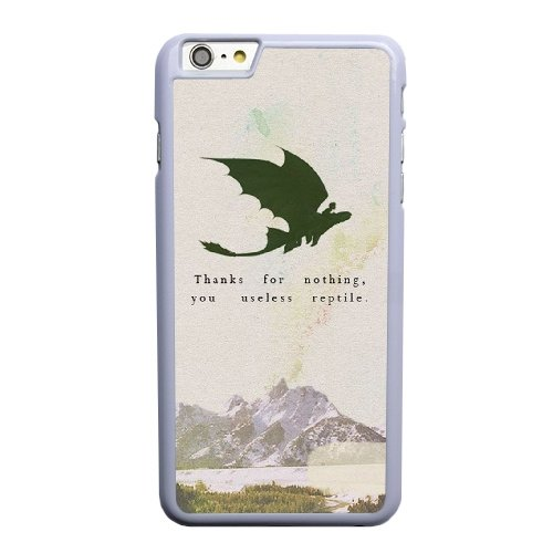 Coque,Coque iphone 6 6S 4.7 pouce Case Coque, Train Your Dragon Quotes Cover For Coque iphone 6 6S 4.7 pouce Cell Phone Case Cover blanc