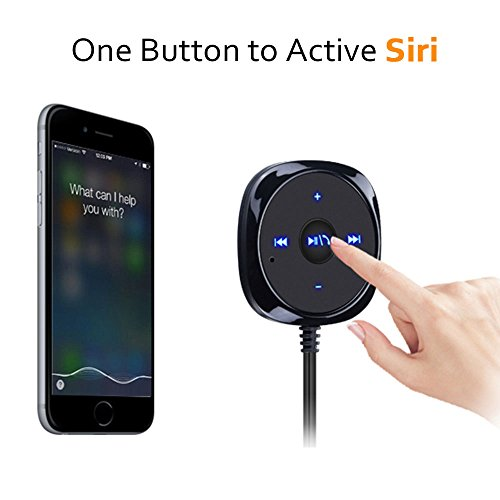 outlet Bovon Kit de Voiture Bluetooth, Kit Mains Libres Voiture sans Fil Adaptateur Audio avec Chargeur USB de Voiture 5V/2.1A Port, 3.5 mm Port Audio et Base Magnétique (Noir)