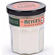 Mrs. Meyers Clean Day Scented Candle, Geranium 4.9 oz