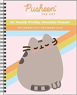 Pusheen Calendar 2022.Pusheen 16 Month 2021 2022 Monthly Weekly Planner Calendar Belton Claire 9781524863876 Amazon Com Books