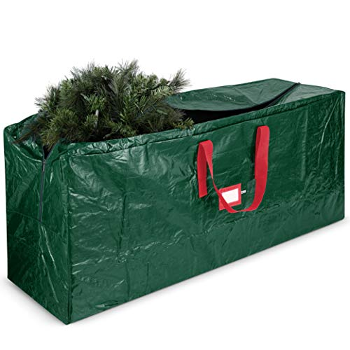 Large Christmas Tree Storage Bag - Fits Up to 9 ft Tall Holiday Artificial Disassembled Trees with Durable Reinforced Handles & Dual Zipper - Waterproof Material Protects from Dust, Moisture & Insect ()