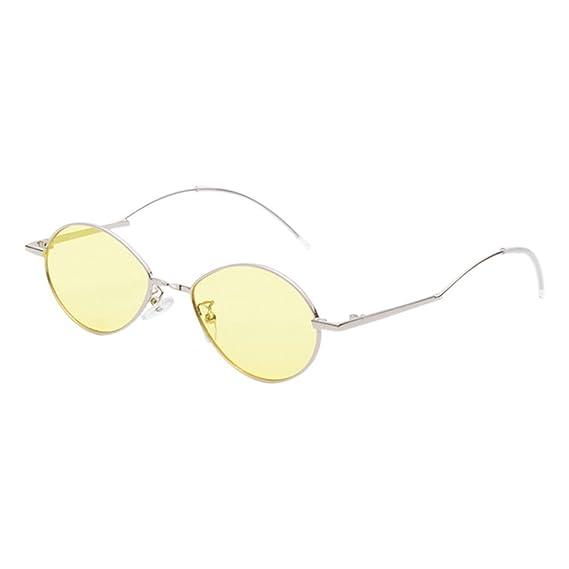 Hzjundasi Gafas de sol Vendimia UV400 Protección Marco de metal ...