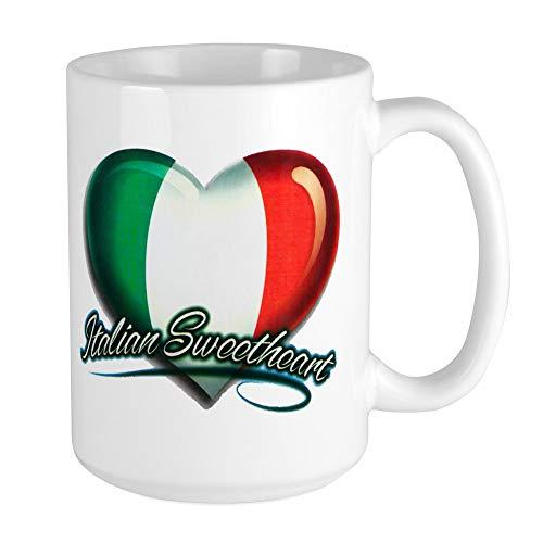 (Large Mug Coffee Drink Cup Italian Sweetheart Italy Flag)