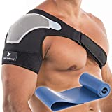 Shoulder Brace for Chronic Pain, Rotator Cuff Brace, Right or Left Shoulder Compression Sleeve, Adjustable Shoulder Immobilizer, The Best Shoulder Support Brace for Men and Women (Small-Medium)