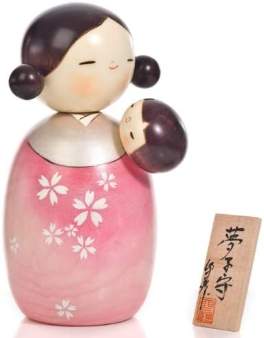 The Japanese Shop Dream Lullaby Mother and Baby Kokeshi Doll