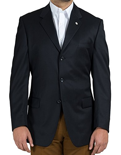 (Richard Harris Men's 2 Button Sport Coat, Super 100 Wool (46L, Black))