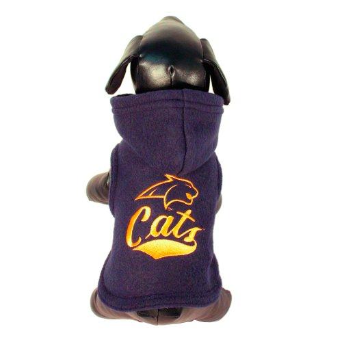 NCAA Montana State Bobcats Polar Fleece Hooded Dog Jacket, ()