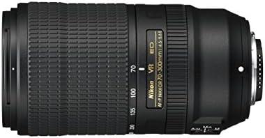 Nikon AFP 70300 mm f4556E en VR telelens voor DSLR zwart nital kaart