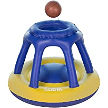 Sable Inflatable Pool Basketball Hoop with one Basketball, Floating for Swimming Pool and Water Games