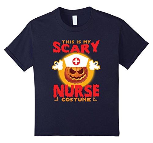 [Kids Halloween Tshirt 2017. Cool Halloween Costume For Nurse 12 Navy] (Cool Halloween Costumes 2017)