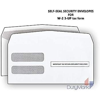 Amazon com : 100 Envelopes Designed for 2018 3 UP Laser W-2