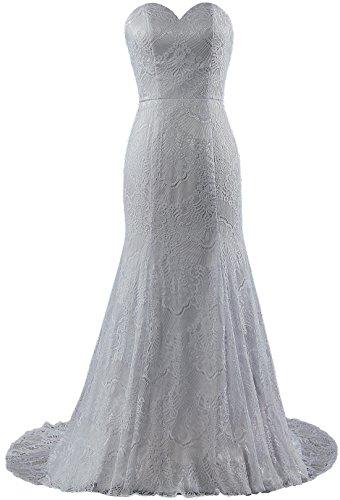 Sirène Dentelle De Fourmis Femmes De Robes De Mariée Robes De Mariée Blanc