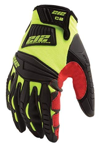 212 Performance Gloves 212 Impact Cut 2 Super HiViz Glove - Medium (7 Pairs) by 213 Performance Gloves (Image #1)