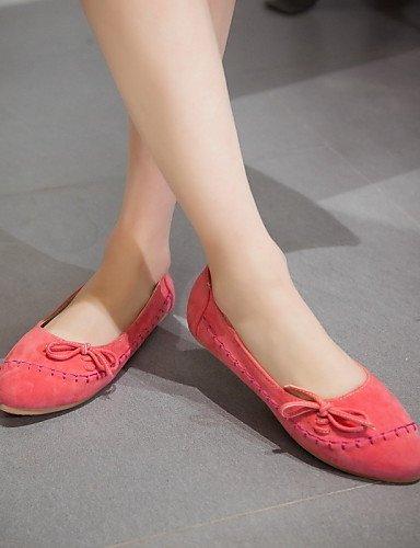 zapatos azul plano de Casual de Flats punta mujer us7 uk5 amarillo PDX 5 eu38 blue cn38 talón redonda 5 rosa almendra E5qXvCw