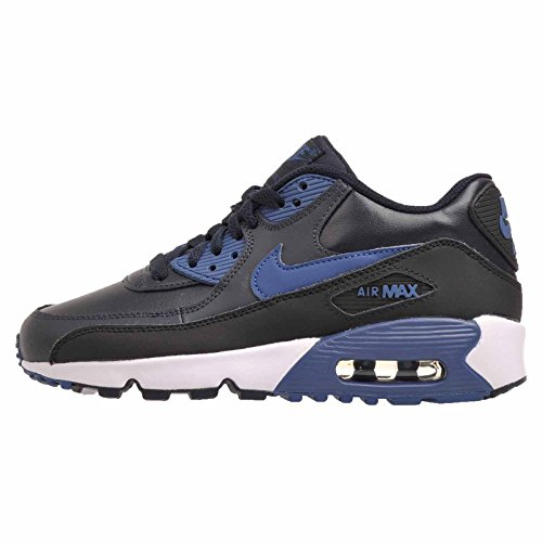 Nike 833412-402 Kid's Air Max 90 Leather Running Shoes, Black, 7 M US Big Kid (Max Leather)
