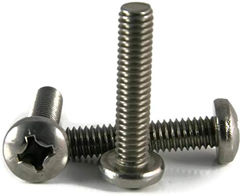 Stainless Steel Pan Head Machine Screw #10-24 x 7/8, Packedge Quantity 250 - Quality Assurance from JumpingBolt