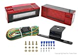 PEAKTOW PTL0102 Deluxe 12V Rectangular Low Profile Submersible LED Trailer Stop/Turn/Tail Light Kit