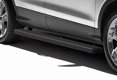 (APS iBoard Running Boards (Nerf Bars | Side Steps | Step Bars) for 2013-2019 Ford Escape Sport Utility 4-Door | (Black Powder Coated 5 inches) )