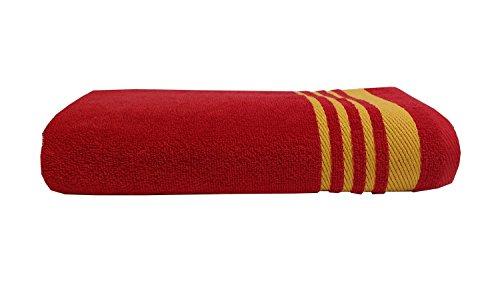 Welhome Home Essential 400 GSM Cotton Bath Towel – Red