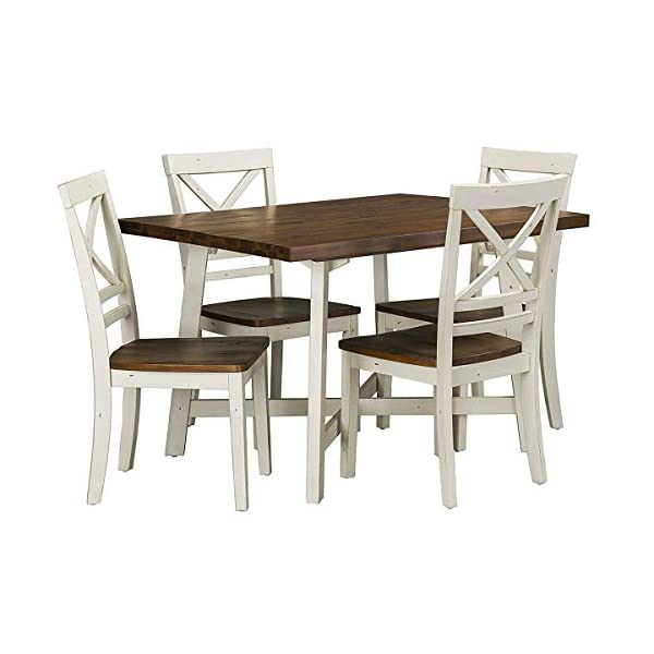 Standard Furniture 19082 Amelia Dining Set, Warm Chestnut Finish