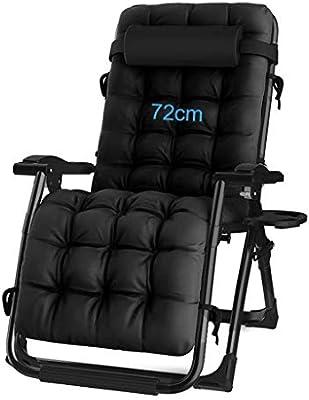LXDDP Extra Ancho Silla n reclinable Tumbonas con portavasos ...