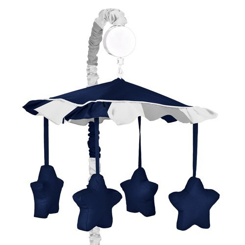 Modern-Navy-and-Gray-Stripe-Musical-Baby-Crib-Mobile