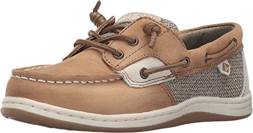 Deck Girl Review - Sperry Songfish Boat Shoe (Little Kid/Big Kid), Linen/Oat, 4.5 Wide US Big Kid