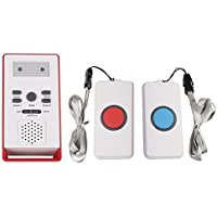 YueYueZou Wireless Home Care Alert Dual Call Button Caregiver Pager Alarm