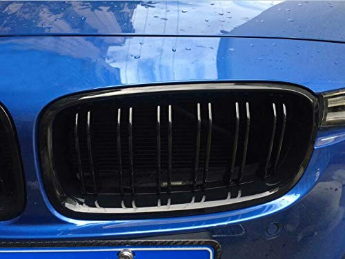 Glossy Black Front Bumper Center Kidney Grille Left /& Right Side Fit for 2012-2018 F30 3-Series 320i 328i 330i 335i 4DR Sedan