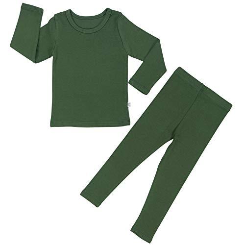 Young Boys Pajamas - Baby Boys Girls Pajama Set 6M-8T Kids Cute Toddler Snug fit Pjs Cotton Sleepwear (Khaki-1 JS(120)/5T-6T)