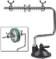 Lightweight Fishing Line Spooler Sliver Aluminum Tensioner Suction Line Winder Spinning Reel Spooler Fishing T
