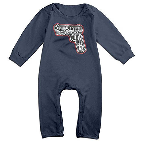 [YOUD X-max Gift Babys Tactical Gun Logo Long Sleeve Jumpsuit Outfits 12 Months] (Baby Golfer Costume)