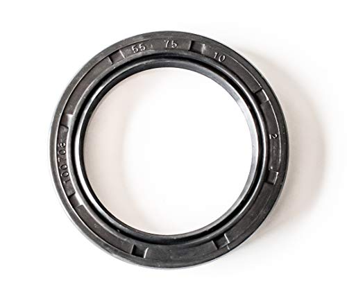 Oil Seal 55X75X10 Oil Seal Grease Seal TC |EAI Rubber Double Lip w/Garter Spring 55mmX75mmX10mm | 2.165