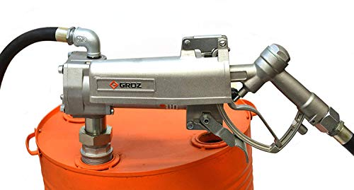 (Groz 44040 Electric Fuel Pump, Explosion Proof, 12V DC, 15 GPM (57 Lpm). Includes 12' x 3/4