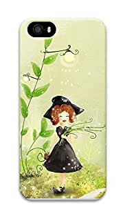 iPhone 5 5S Case Cute Black Dress Little Girl 3D Custom iPhone 5 5S Case Cover