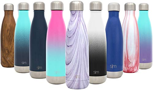 Simple Modern 25oz Wave Water Bottle - Stainless Steel Double Wall Vacuum Insulated Metal Reusable - Leakproof Pattern: Lavender Swirl