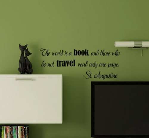 Wall Stickers Decal Removable The World is a Book and Those who do not Travel Read only one Page for Bedroom (Furniture Stores Gta)