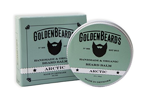 Organic Beard Balm Arctic 60ML - 100% Natural | Jojoba & Argan & Apricot Oil, Peppermint, Orange and Tea Tree. All our products are 100% Handcrafted & Handmade. Made in Denmark