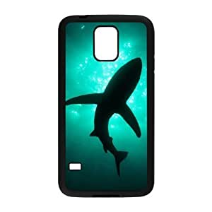Diy Beautiful Scary Shark Custom Cover Phone Case for samsung galaxy s5 Black Shell Phone [Pattern-1]