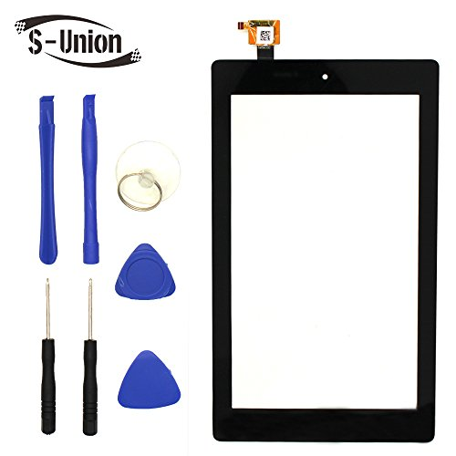 S-Union New Digitizer Screen Replacement for Amazon Fire 7th Gen SR043KL 7'' Black by S-Union