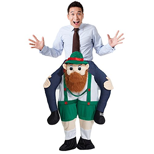 Monkeyin' Around Adult Unisex Costumes (Halloween Magic Funny Pants; Anwish back Ride On Shoulder Adult Costume Pants (C))