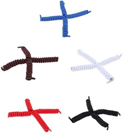 靴ひも ゴム 結ばない 靴紐 伸縮 ほどけない 簡単取り付け 脱ぎ履き便利 伸縮 5組セット