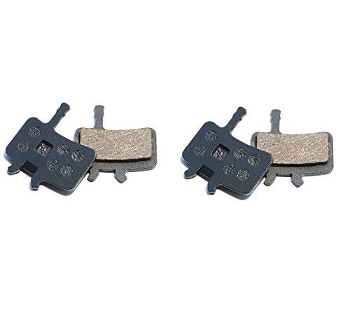 Resin Organic Semi-metal Brake Pads for AVID BB7 Juicy 3 5 7, Smooth Braking,Low Noise, Long Life, Kevlar, Copper, 2 Pairs by Juscycling (Image #1)